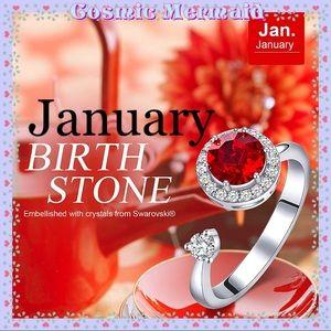 🆕❤️Rotating JANUARY Birthstone Ring❤️SIZE ADJUSTS